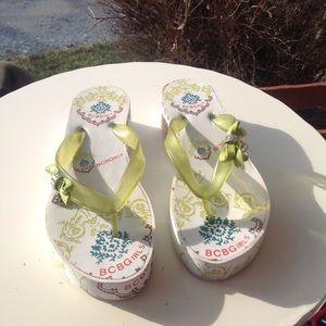 Womans BCBG girls sandals.